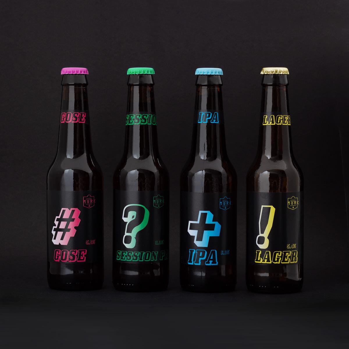 Mörk Craft beers - branding & design by Jaani Vaahtera, Vaahtera & Lönneberga