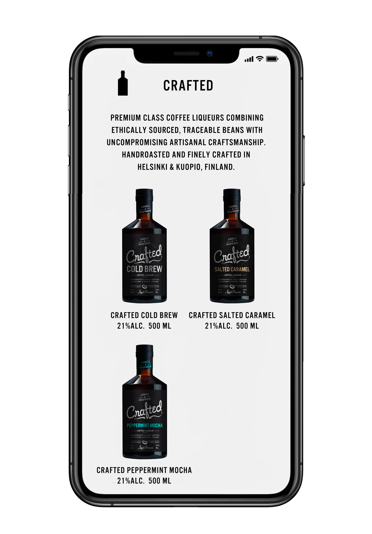 Packaging design, Crafted Cold Brew